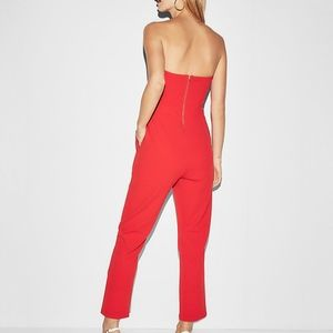 82caefadf4af Express Pants - express red Strapless Sweetheart Neckline Jumpsuit